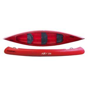 ROTO kanu Viking jednoslojni 3 PE sjedala crveni